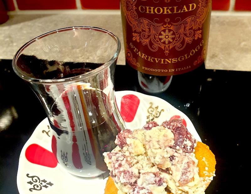 recept-vinbanken-Glöggtilltugg - ädeloströra med sherry, tranbär och pekannötter
