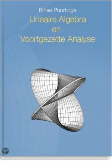 Cover Lineaire Algebra en Voortgezette Analyse