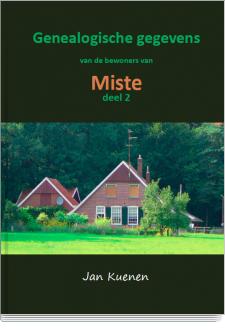 Cover Genealogische gegevens van de bewoners van Miste (deel 2)