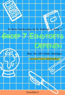 Cover Eindtoets Groep 7 Oefenen - Inclusief 3 Bonusboeken