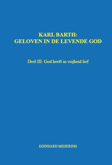 Cover KARL BARTH: Deel III
