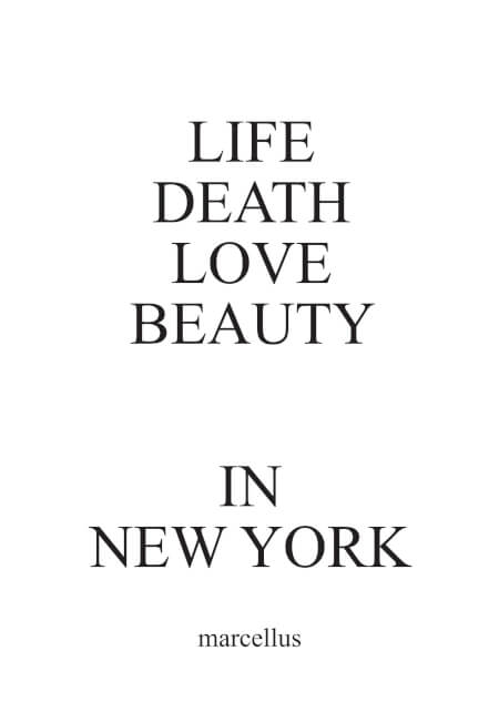 Cover LIFE DEATH LOVE BEAUTY IN NEW YORK