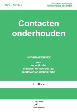Cover Contacten onderhouden Informatieboek Niveau 2