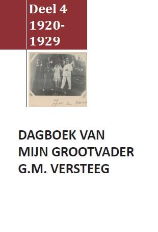 Cover Dagboek G.M. Versteeg Deel IV