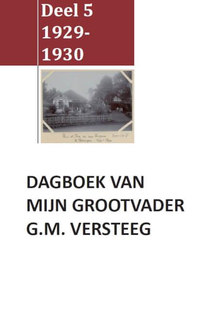 Cover Dagboek G.M. Versteeg Deel V