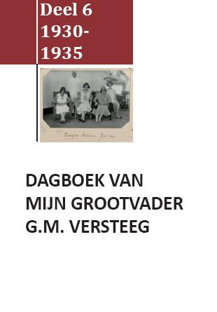Cover Dagboek G.M. Versteeg Deel VI
