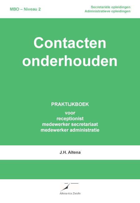 Cover Contacten onderhouden Praktijkboek Niveau 2