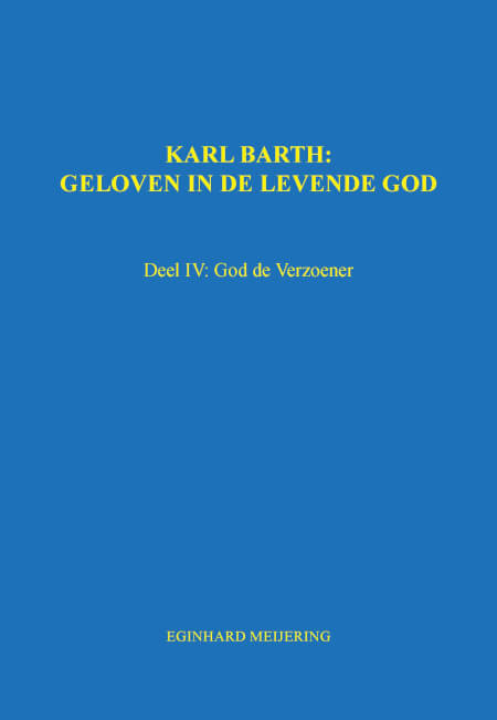Cover KARL BARTH: Deel IV