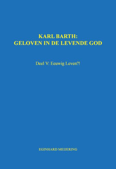 Cover KARL BARTH: Deel V