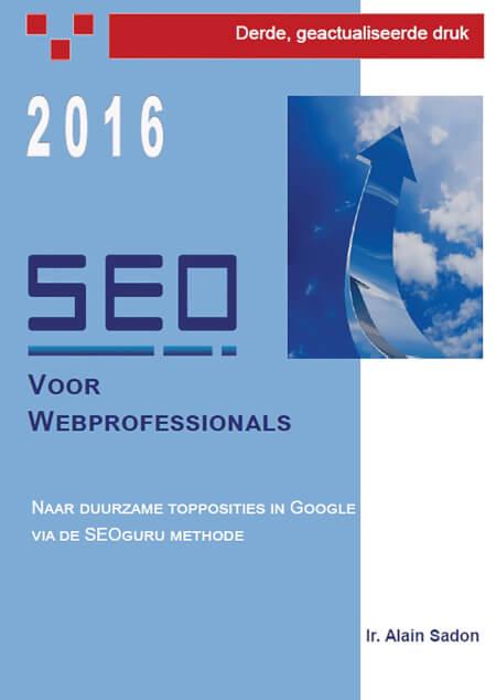 Cover SEO voor webprofessionals Derde Druk