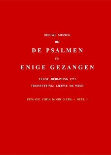 Cover Nieuwe muziek bij de psalmen en enige gezangen - Uitgave voor koor (satb), deel 1