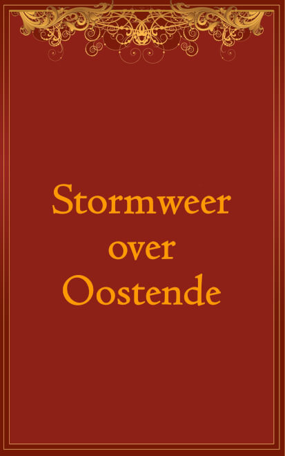 Cover Stormweer over Oostende