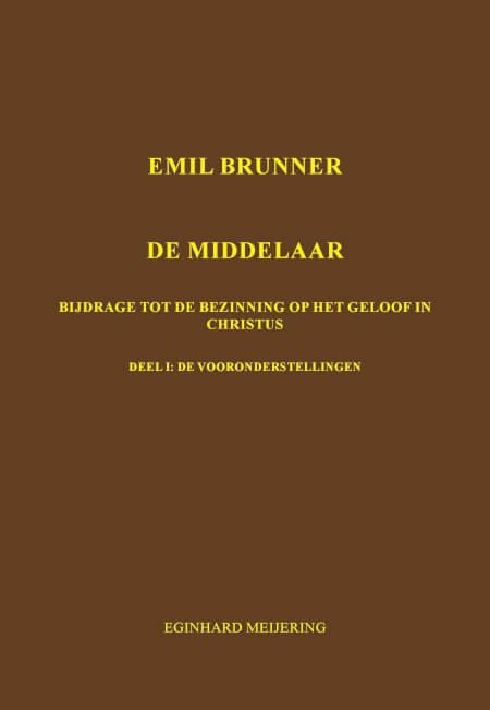 Cover Emil Brunner De Middelaar