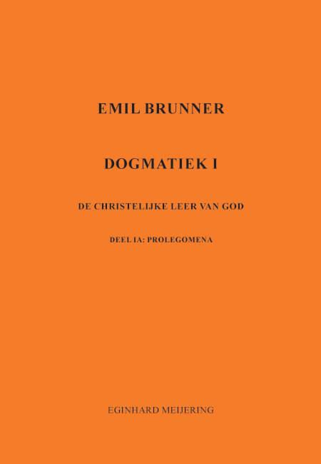 Cover Brunner Dogmatiek 1a