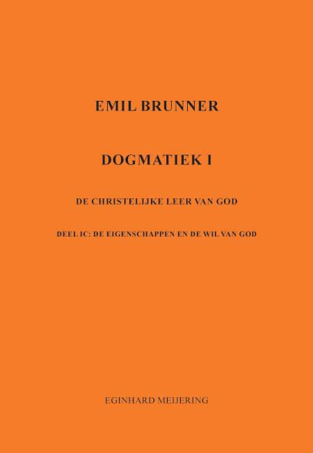 Cover Emil Brunner Dogmatiek 1c