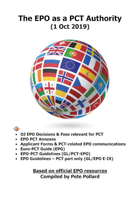 Cover EPO as PCT Authority (1 Oct 2019)