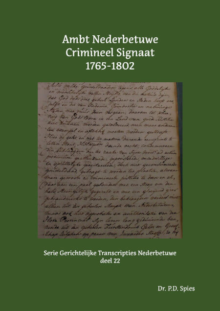 Cover Ambt Nederbetuwe Crimineel Signaat 1765-1802