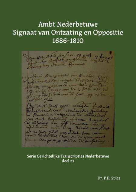 Cover Ambt Nederbetuwe Signaat van Ontzating en Oppositie 1686-1810