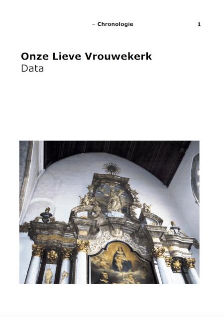 Cover Onze Lieve Vrouwekerk historiek