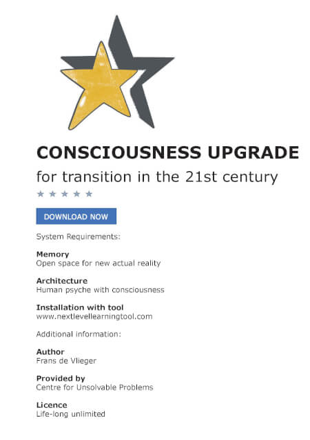 Cover Consciousness upgrade for transition in the 21st century