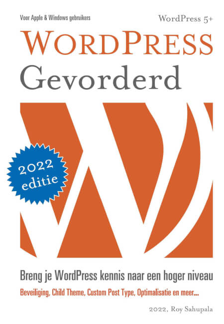 Cover WordPress Gevorderd