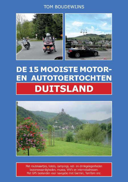 Cover De 15 Mooiste Motor- en Autotoertochten DUITSLAND (zwart/wit)
