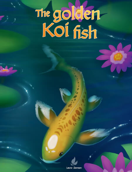Cover The golden koi fish