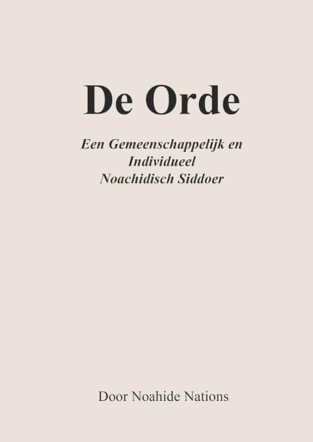 Cover De Orde