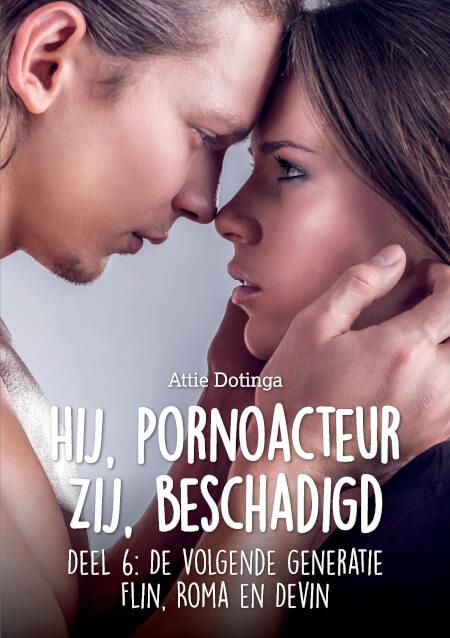 Cover Hij pornoacteur, Zij beschadigd.