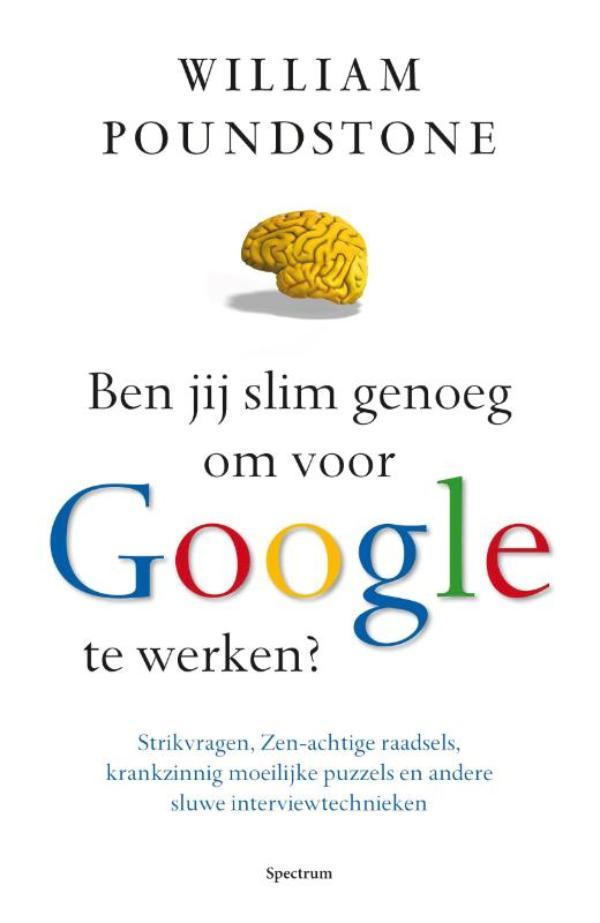 Cover Ben jij slim genoeg om voor Google te werken?