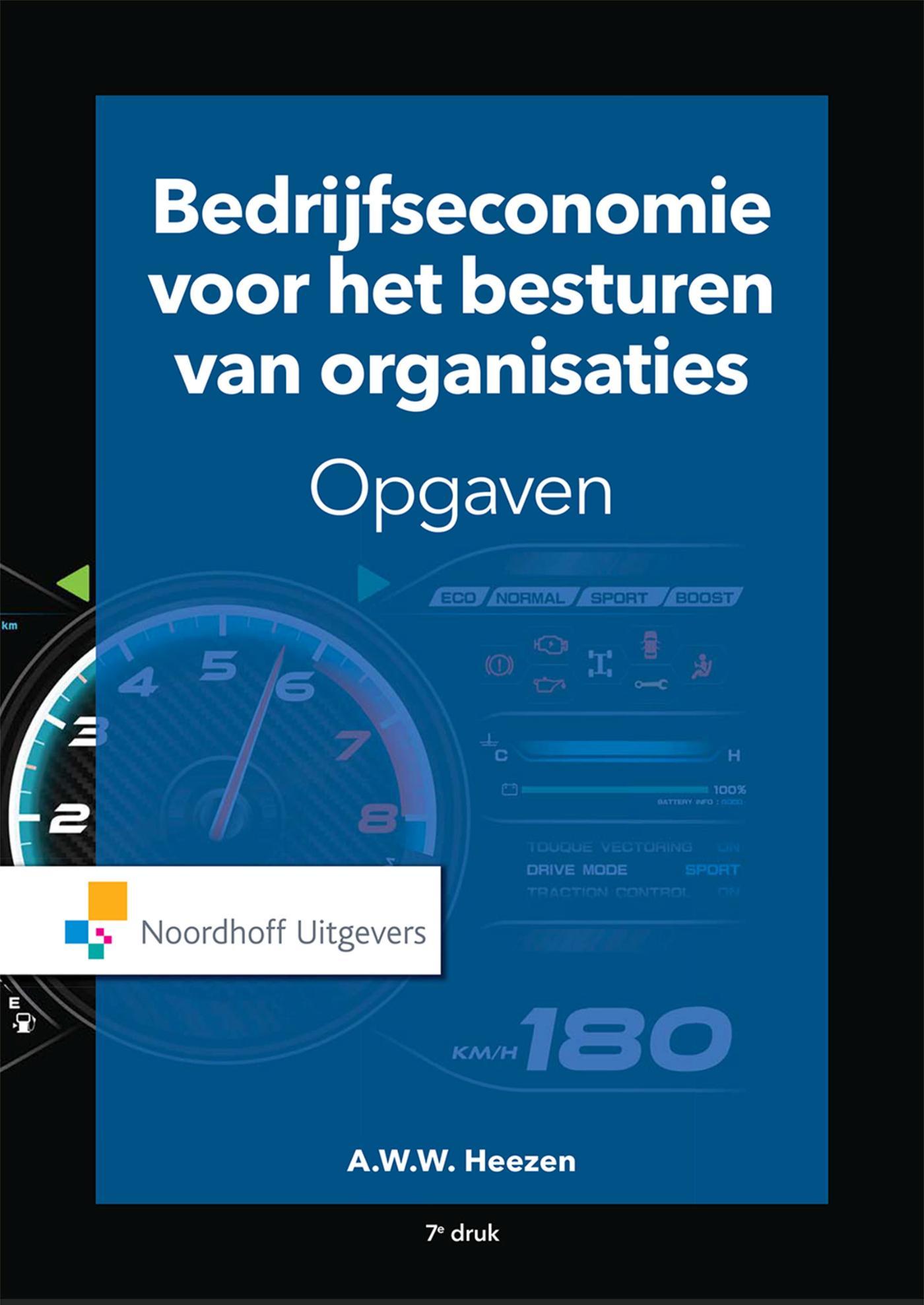 Cover Bedrijfseconomie voor het besturen van organisaties