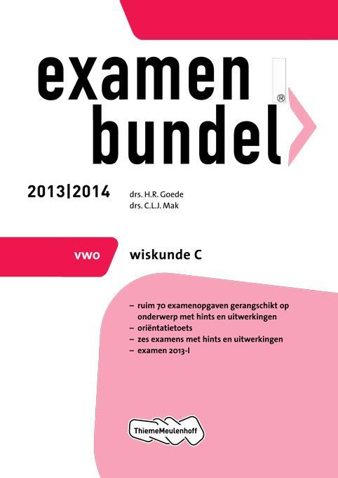 Cover 2013/2014 vwo Wiskunde C
