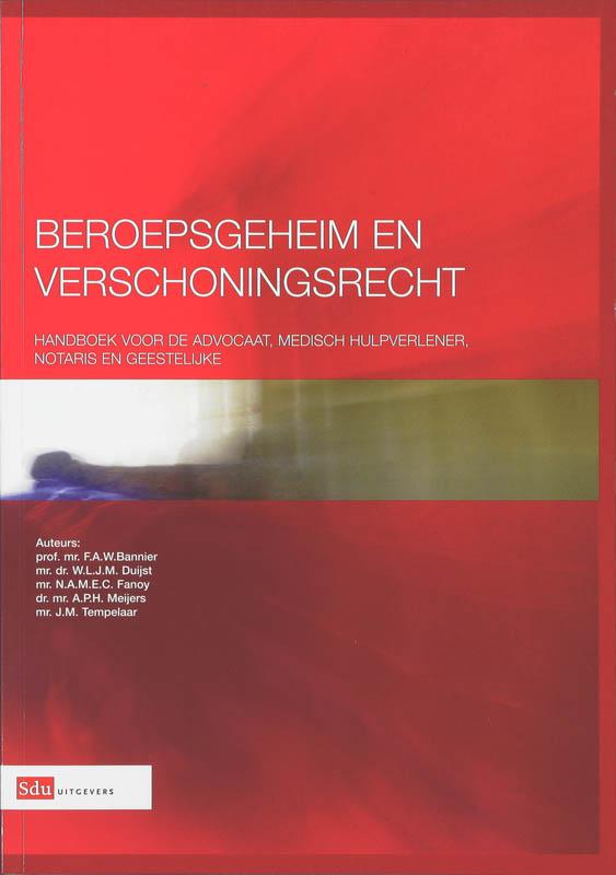 Cover Beroepsgeheim en verschoningsrecht