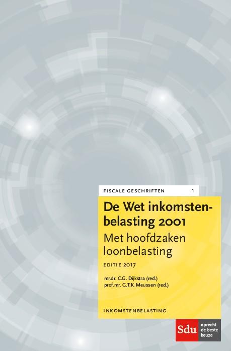 Cover De Wet Inkomstenbelasting 2001
