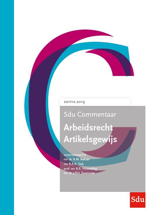 Cover Sdu Commentaar Arbeidsrecht Artikelsgewijs Editie 2019