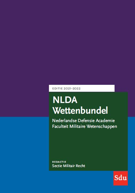 Cover NLDA Wettenbundel. Editie 2021-2022
