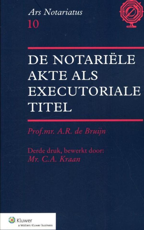 Cover De notariele akte als executoriale titel