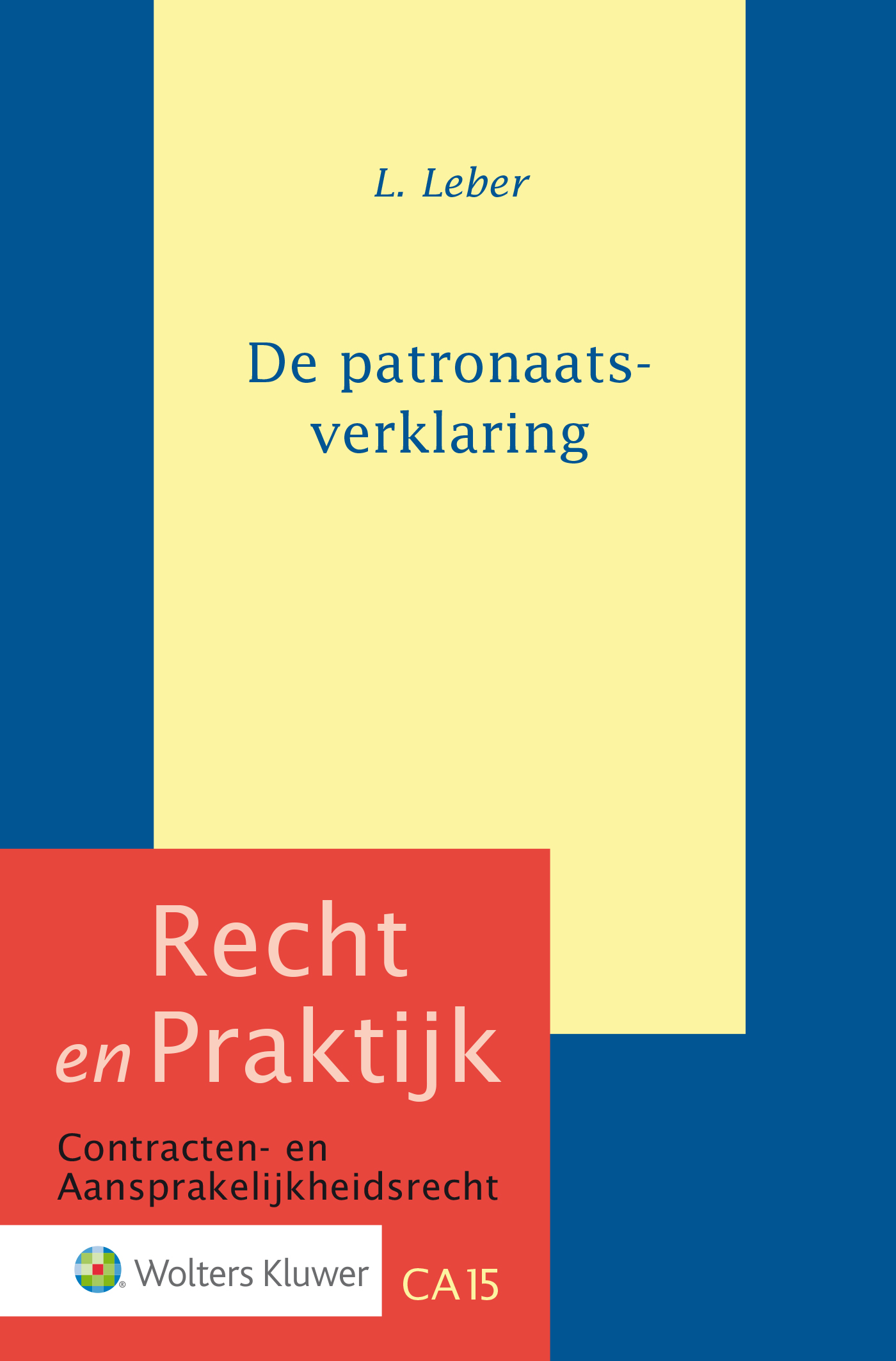 Cover De patronaatsverklaring