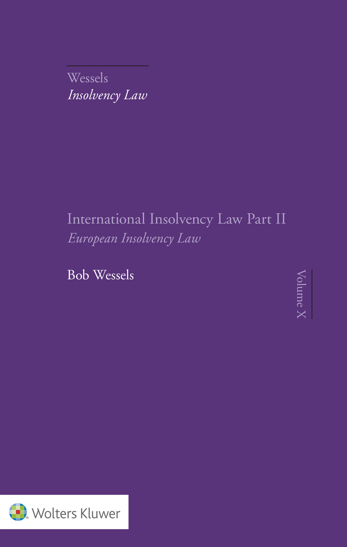 Cover Part II European Insolvency Law