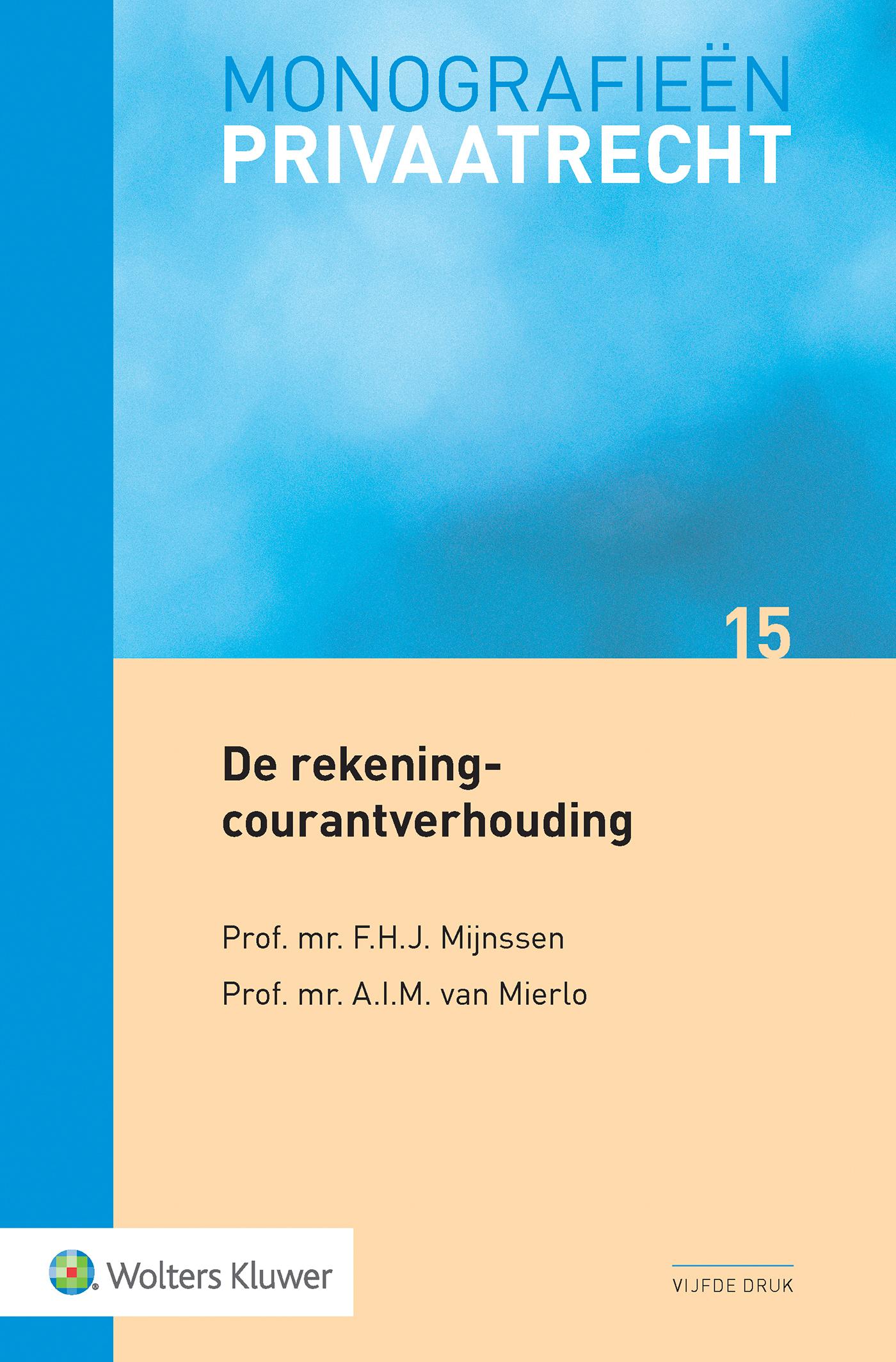 Cover De rekening-courantverhouding