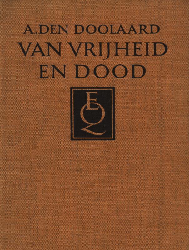 Cover Van vrijheid en dood