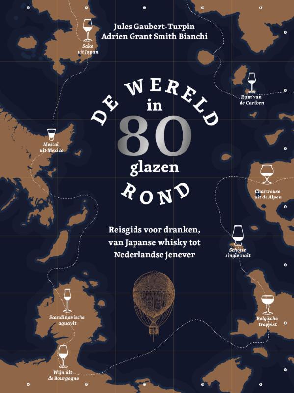 Cover De wereld rond in 80 glazen