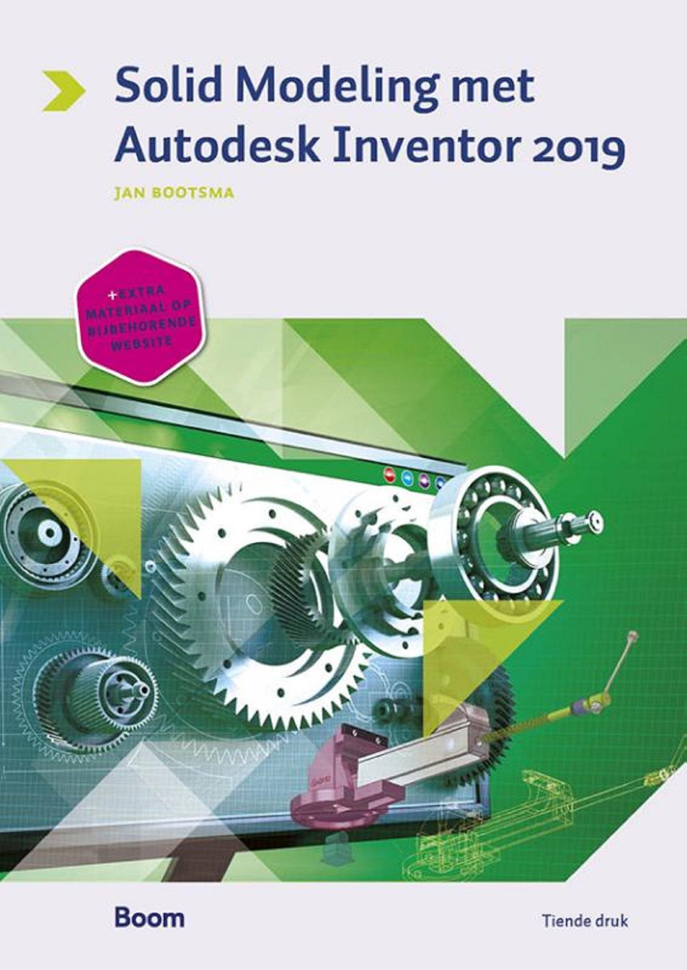 Cover Solid modeling met Autodesk Inventor 2019