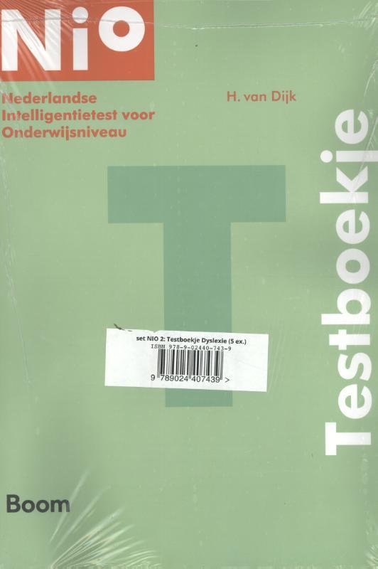 Cover NIO 2: Testboekjes Dyslexie (5 ex)
