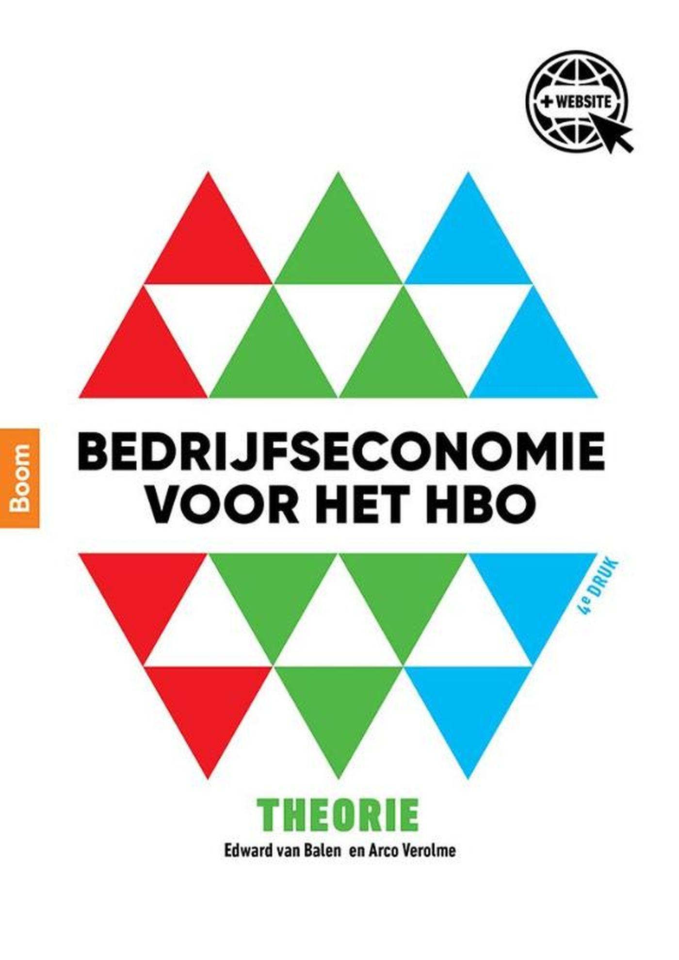 Cover Bedrijfseconomie voor het hbo