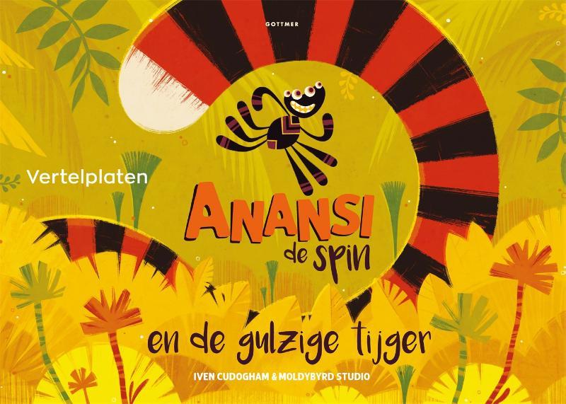 Cover Vertelplaten Anansi de spin en de gulzige tijger