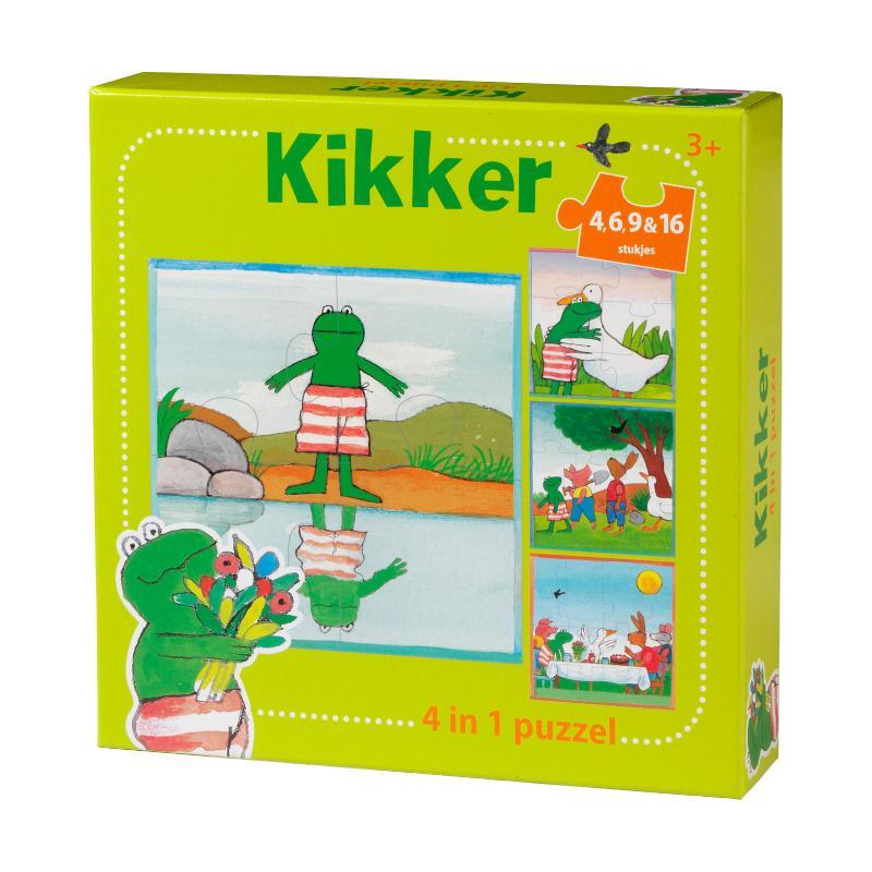 Cover Kikker puzzel 4 in 1