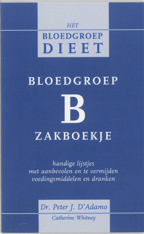 Cover Bloedgroep B zakboekje