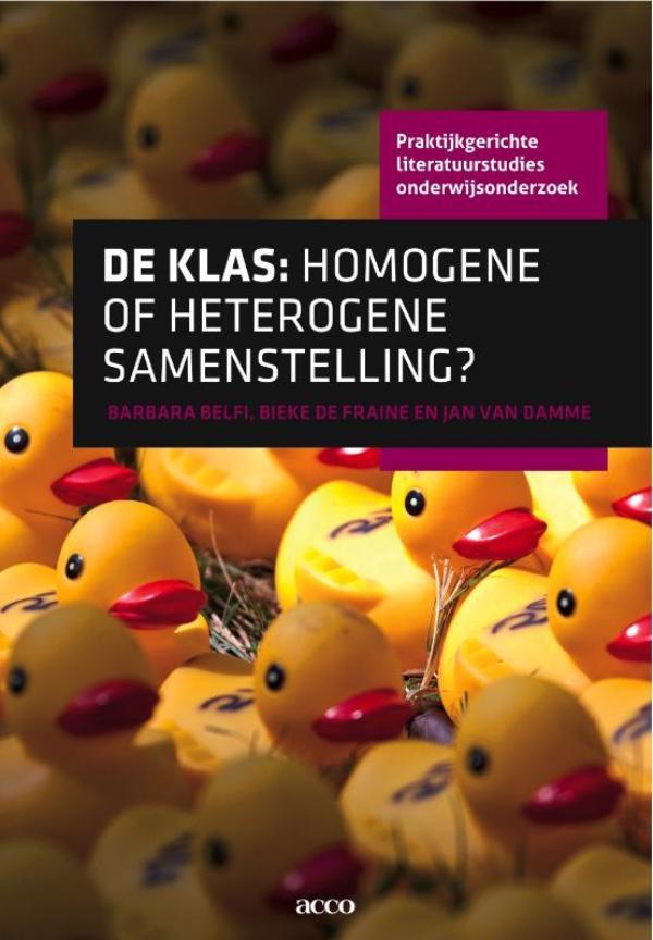 Cover De klas: homogene of heterogene samenstelling