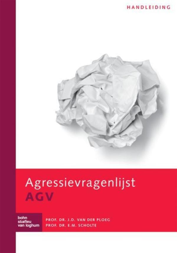 Cover Agressievragenlijst AGV